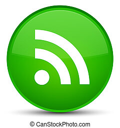RSS icon special green round button
