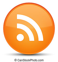 RSS icon special orange round button