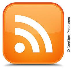 RSS icon special orange square button