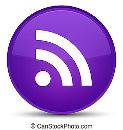 RSS icon special purple round button