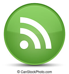 RSS icon special soft green round button