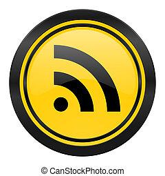 rss icon, yellow logo