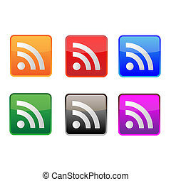 Rss icons in various colors.