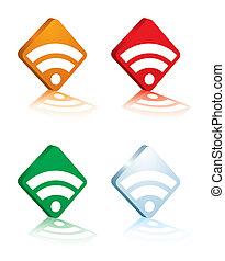rss logo white