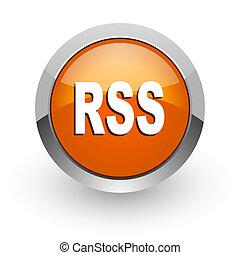 rss orange glossy web icon