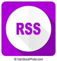 rss pink flat icon