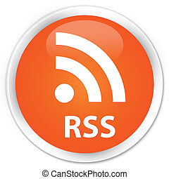 RSS premium orange round button