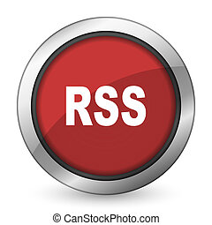 rss, rosso, icona