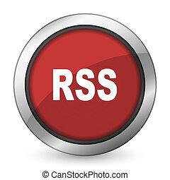 rss, rouges, icône