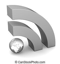 RSS Sign in Metallic Grey