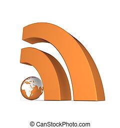 RSS Sign in Metallic Orange