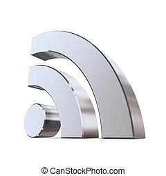 RSS Sign - Shiny Metallic