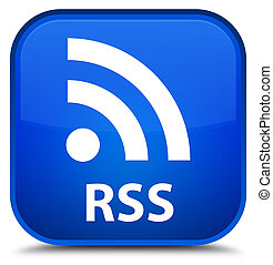 RSS special blue square button