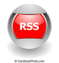 rss steel glosssy icon