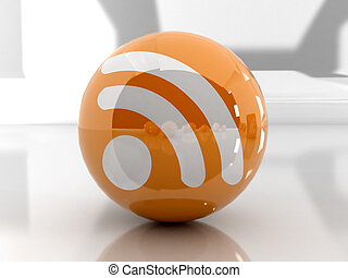 rss - Feed or Rss icon, used in internet transmision and...