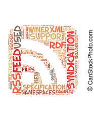 RSS symbol info-text graphic and arrangement concept