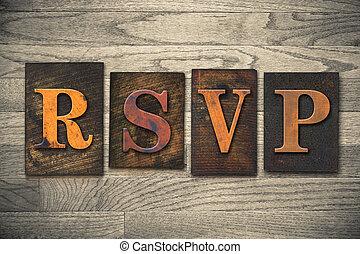 rsvp, bois, letterpress, concept