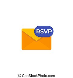 RSVP icon in flat style