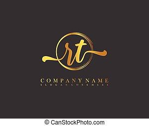 Initial beauty monogram and elegant logo design, handwriting logo of initial signature, wedding, fashion, floral and botanical with creative template