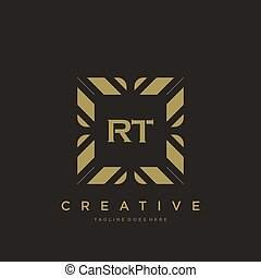 RT initial letter luxury ornament monogram logo template vector art