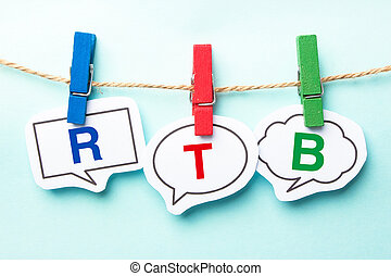 rtb, burbuja, palabra