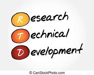 RTD - Research Technical Development