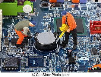 ruído elétrico computador