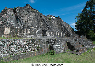 ruína, mayan, -, xunantunich, belize