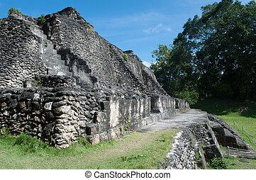 ruína mayan, xunantunich, em, belize