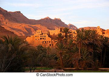 ruínas, antiga, marrocos