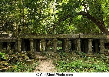ruínas antigas, em, cambodia