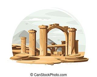 ruínas arquitetônicas, antigas