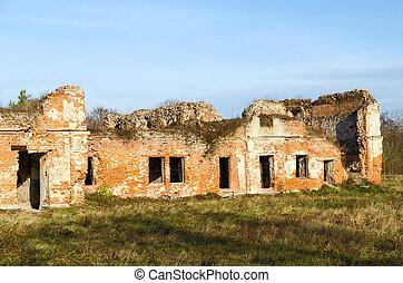ruínas, de, bernardine, convento, em, brest, fortaleza, belarus