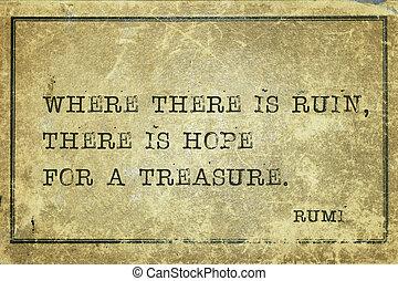 ruïne, en, hoop, rumi