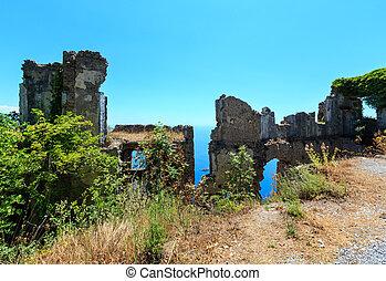 ruïnes, conciliatie, italië, maratea., origineel