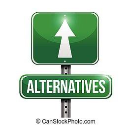 rua, alternativas, sinal