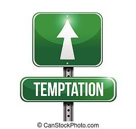 rua, desenho, tentação, ilustração, sinal