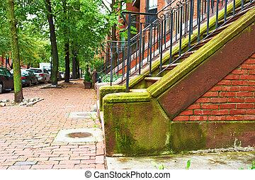 rua, em, boston