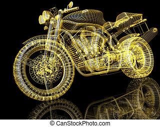 rua, lutador, ciclo motor