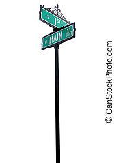 rua principal, sinal