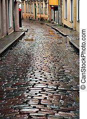 rua, tallinn, molhados