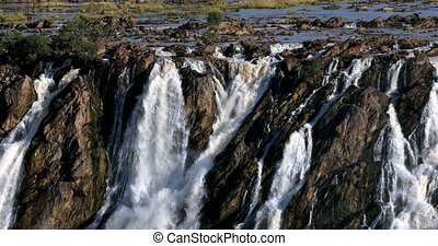 Ruacana Falls in Northern Namibia, Africa wilderness -...