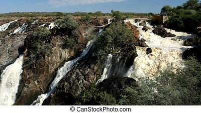 Ruacana Falls on the Kunene River in Northern Namibia and...