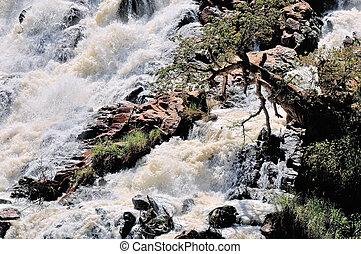 Ruacana waterfall, Namibia