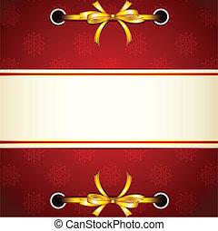 ruban, attaché, dans, noël, papier peint