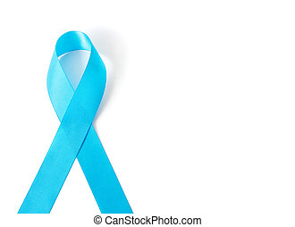 ruban bleu, blanc, fond, cancer prostate, conscience