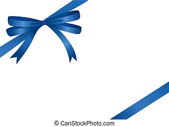 ruban bleu, (vector)