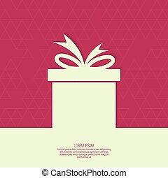 ruban, cadeau, formulaire