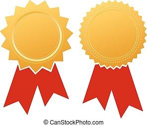 ruban, certificat, vide