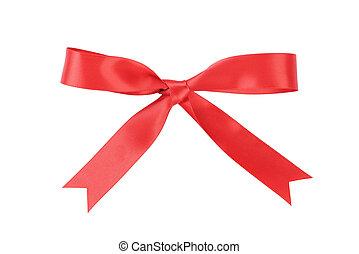 ruban, fait main, au-dessus, arc rouge